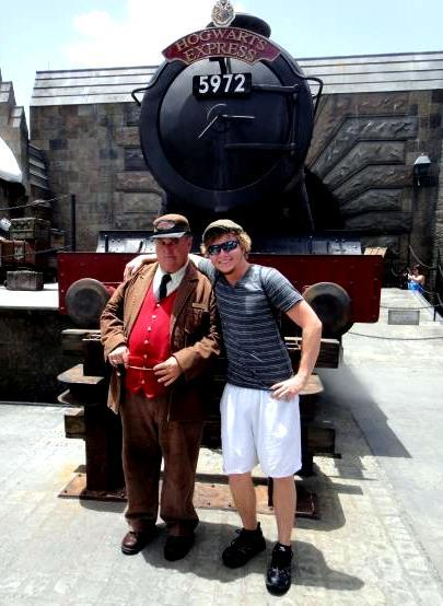 Evan with the Hogwarts Express Conductor