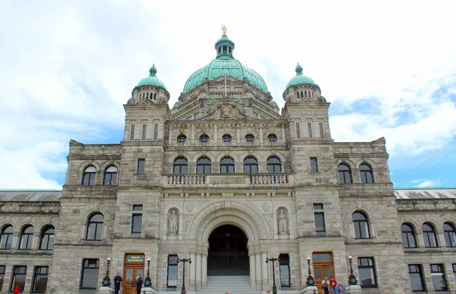 one day in victoria bc parliament building