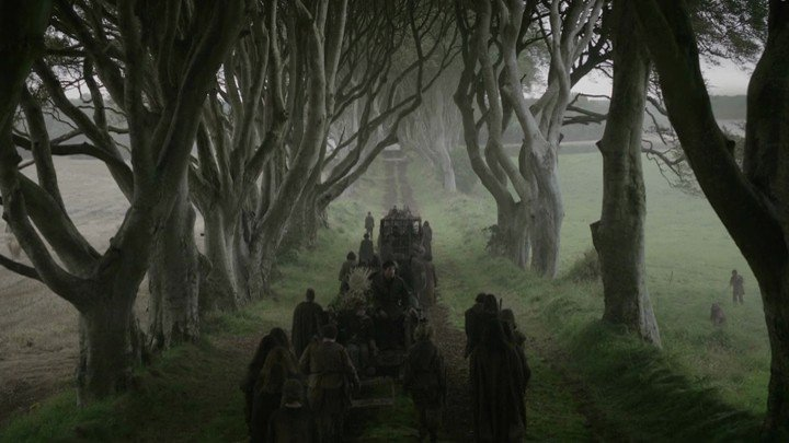 game of thrones filming locations, dark hedges, ireland