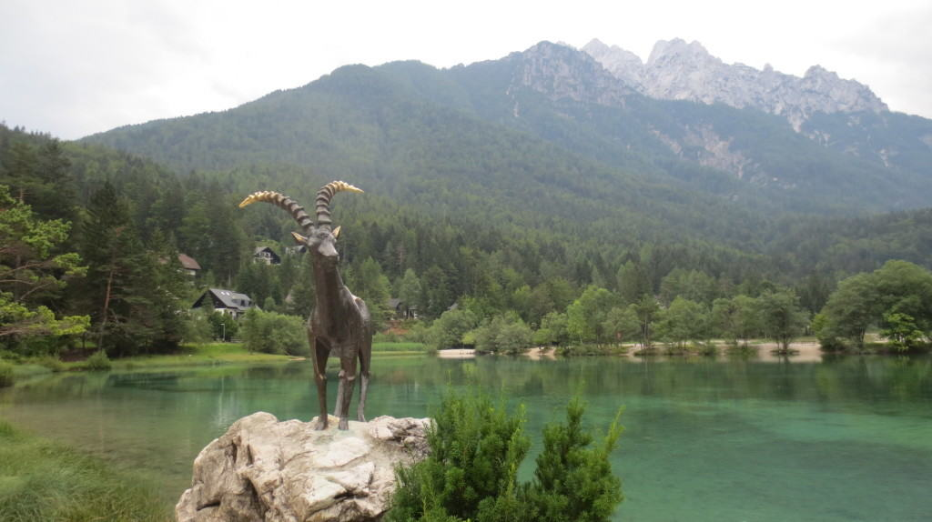 Goldenhorn at Lake Jasna Slovenia