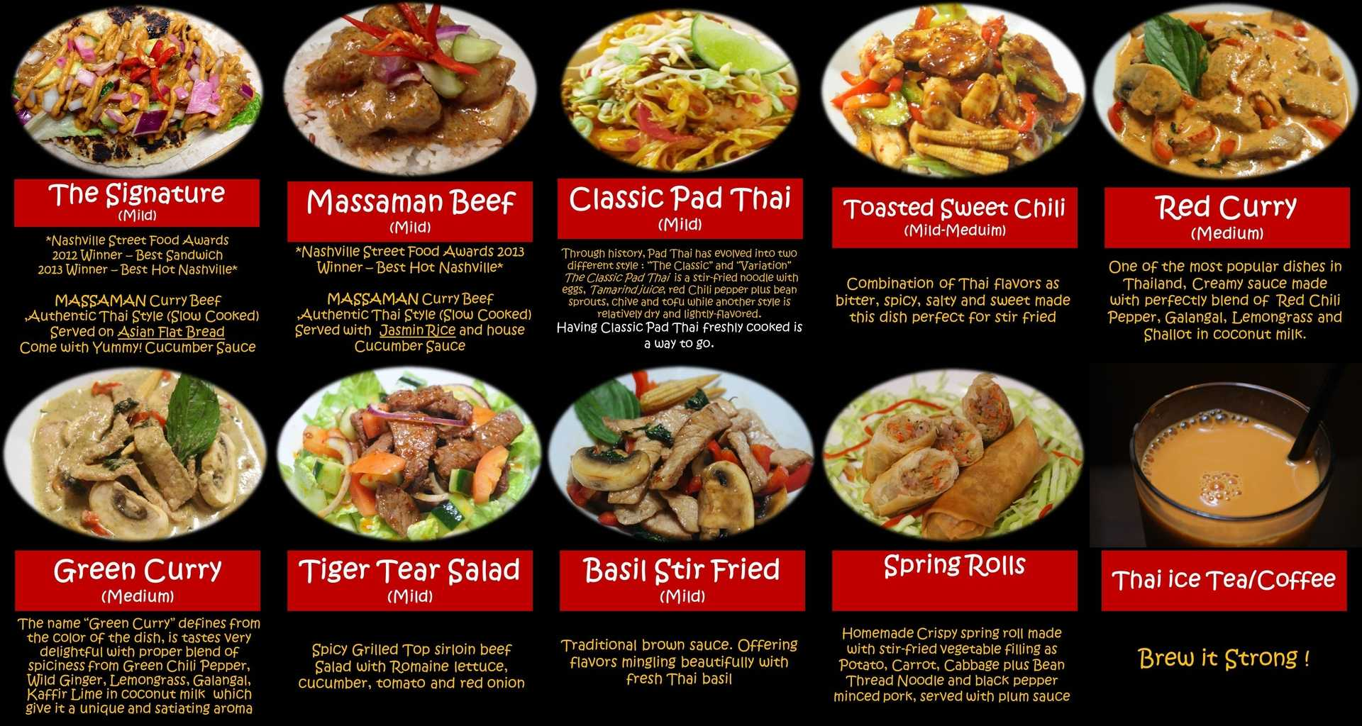 thai food menu - recipes food