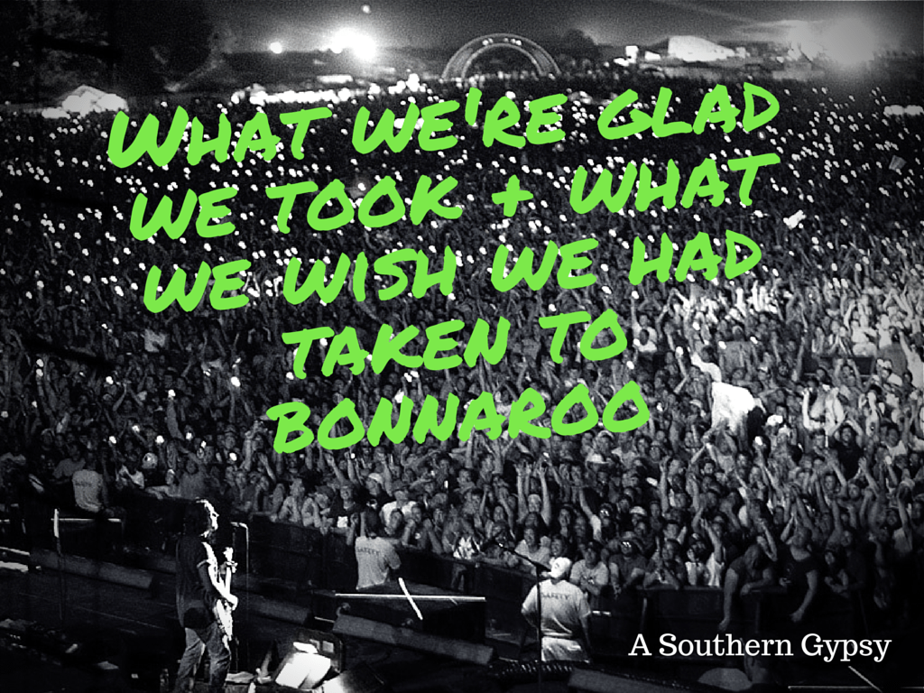 THINGS WE'RE GLAD WE TOOK + WHAT WE WISH WE HAD TAKEN TO BONNAROO