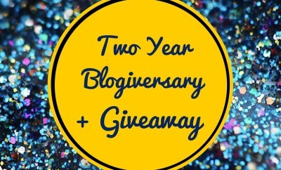 TWO YEAR BLOGIVERSARY + GIVEAWAY