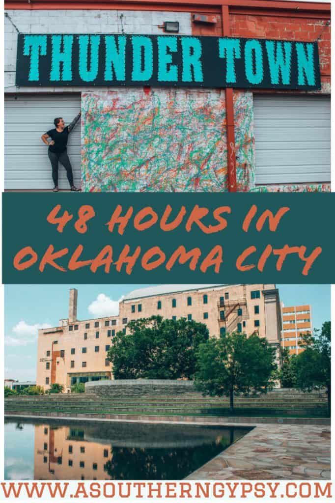 Looking for weekend getaways in Oklahoma? Check out this guide to see how to spend 48 Hours in Oklahoma City and you'll see why it's an underrated destination that deserves a spot on your list! #VisitOKC #SeeOKC #OKC #OklahomaCity #OKCitinerary