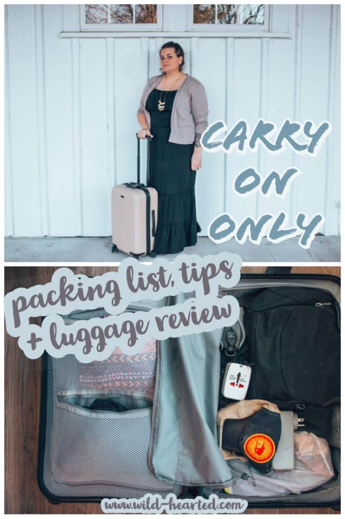 carry on only packing list