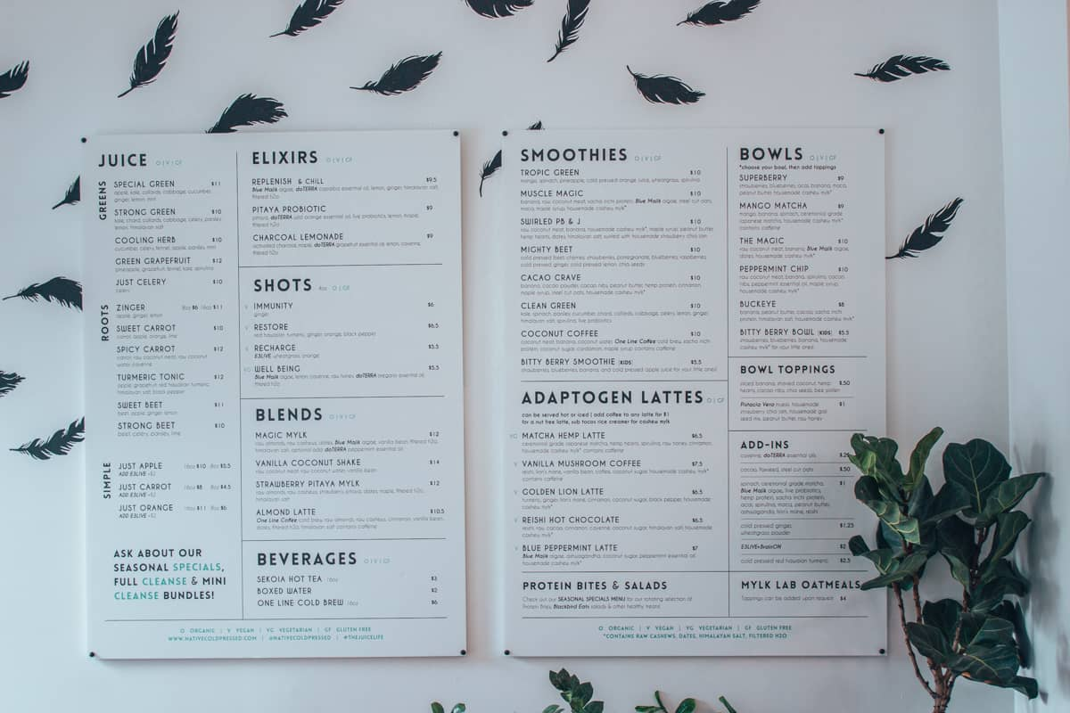 vegan restaurants columbus ohio - native menu
