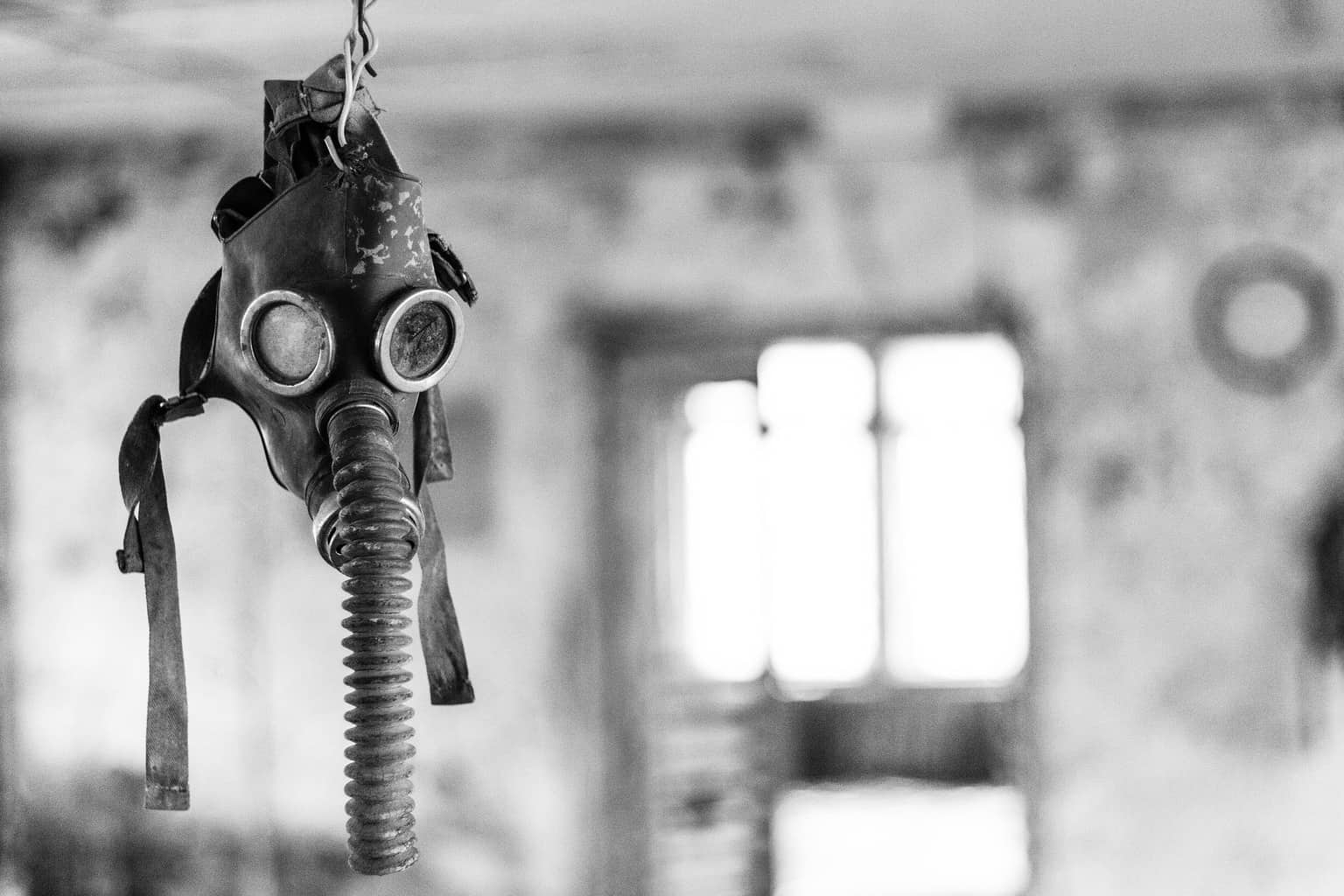 gas mask at chernobyl