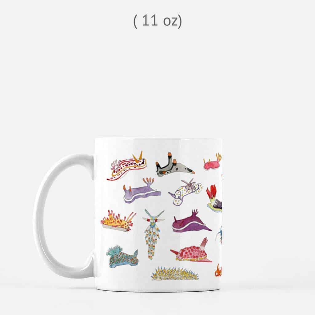 gifts for divers | nudibranch mug