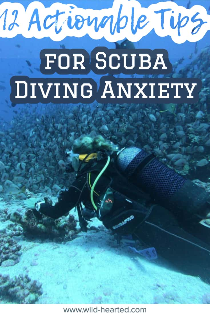 what helps with anxiety during scuba diving