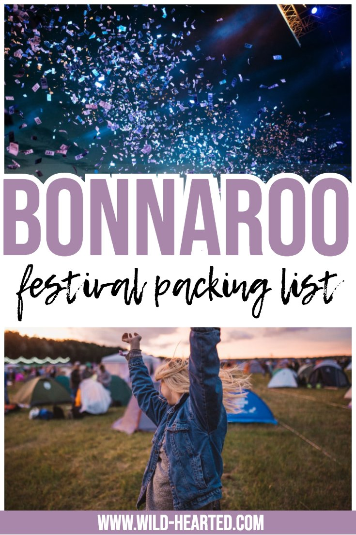 bonnaroo packing list