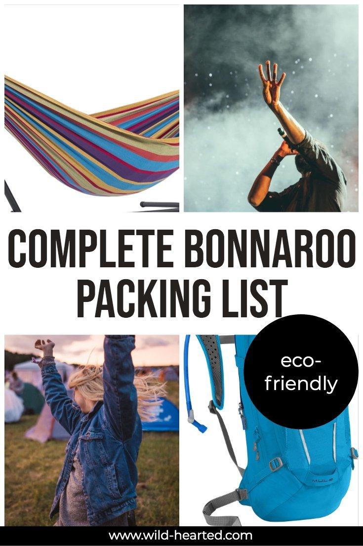 bonnaroo packing list